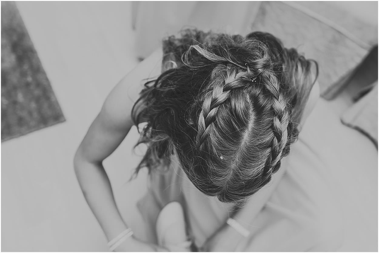 Lincolnshire photography details of a bridal updo