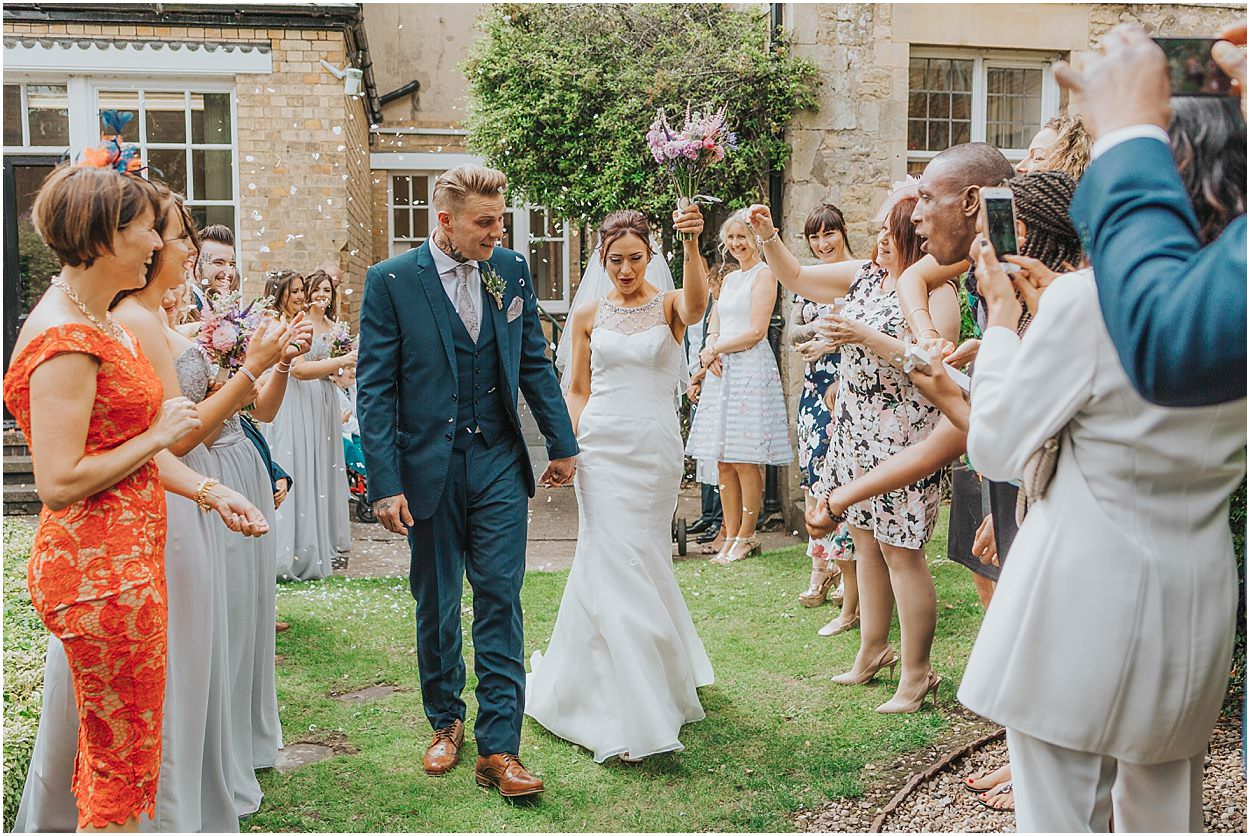 Lincolnshire photography confetti shot at Stamford town hall