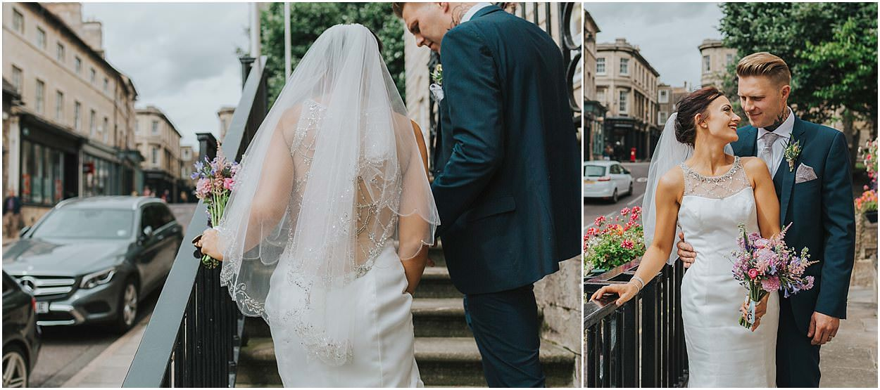 Lincolnshire photography bride and groom on stamford town hall steps