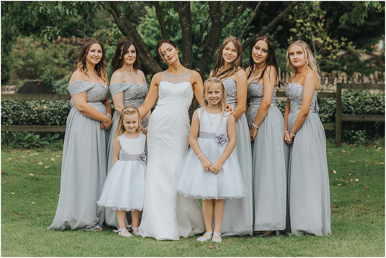 Lincolnshire photography group shot of bridesmaids and flower girls