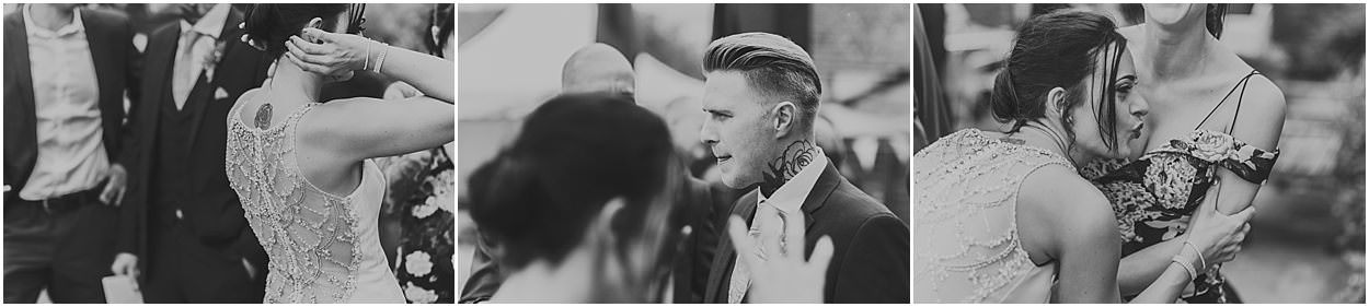 Lincolnshire photography three black and white images of candid moments at a wedding