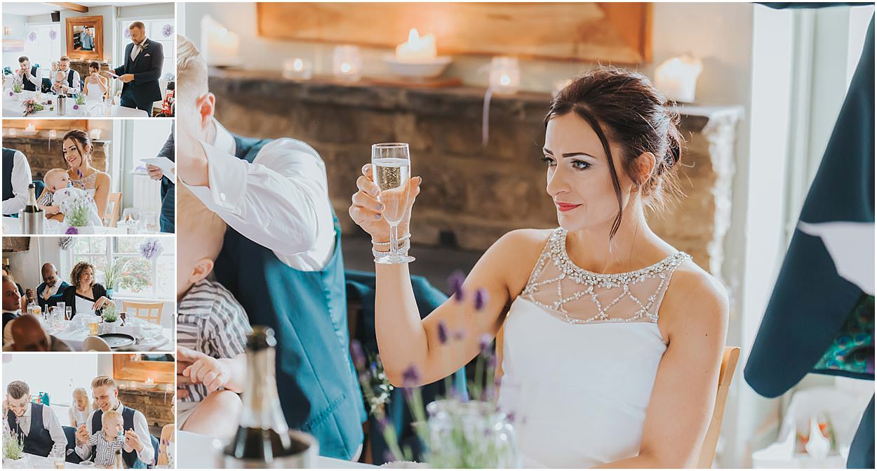 Lincolnshire photography selection of speech shots including the bride raising a toast