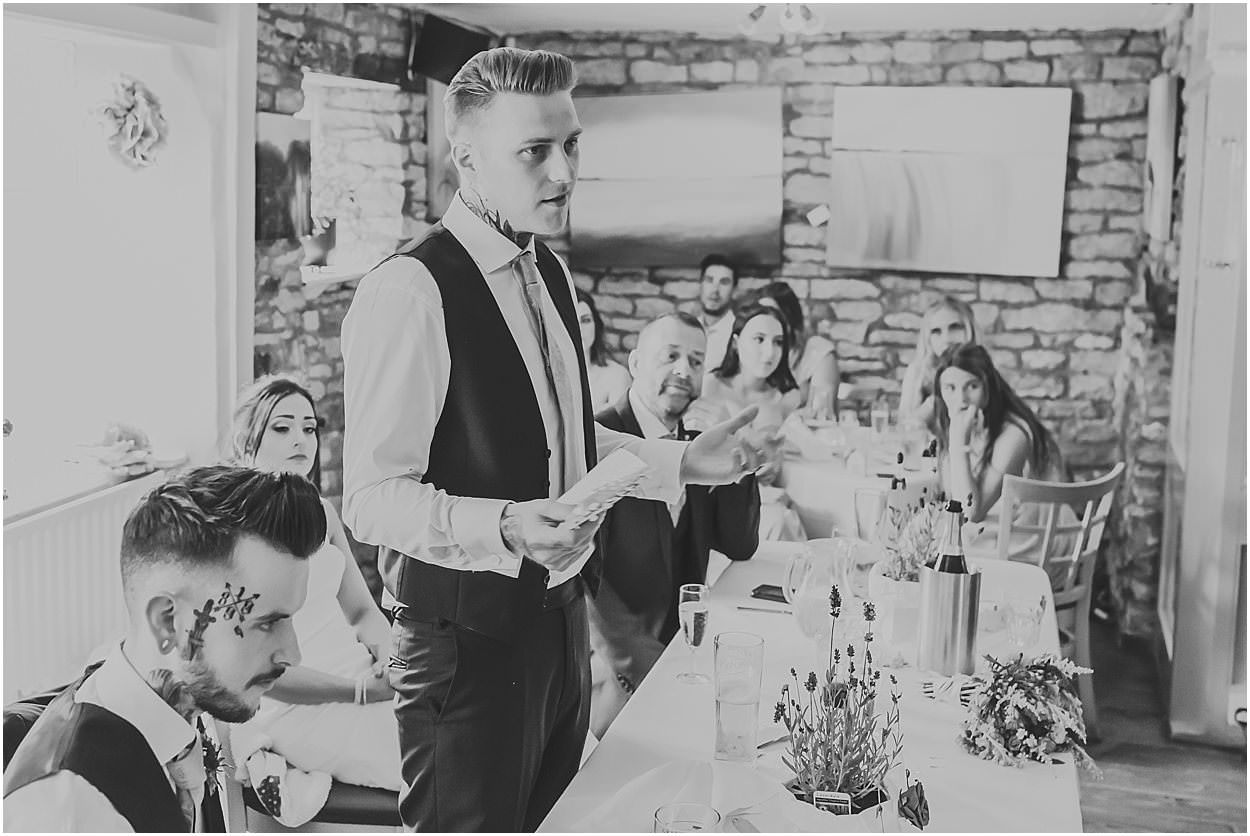 Lincolnshire photography groom giving a speech