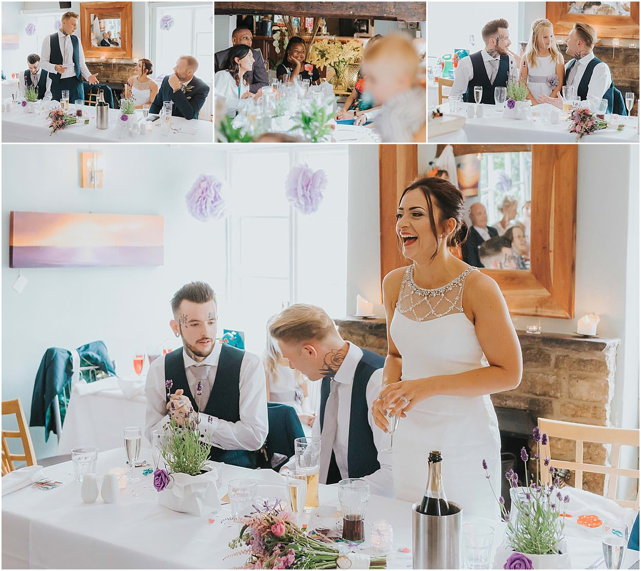 Lincolnshire photography speeches from a wedding, including the bride, groom, best man and children