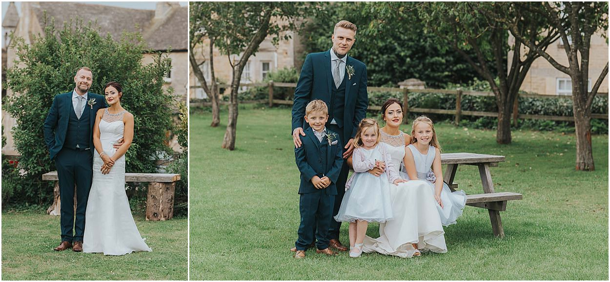 Lincolnshire photography left bride and father, right, bride groom and their children
