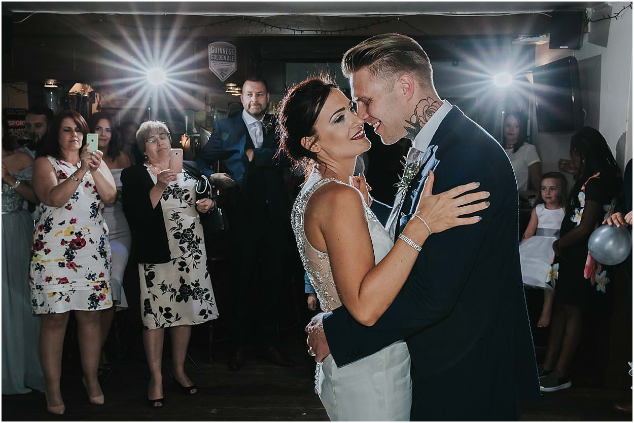 Lincolnshire photography epic bride and groom first dance shot