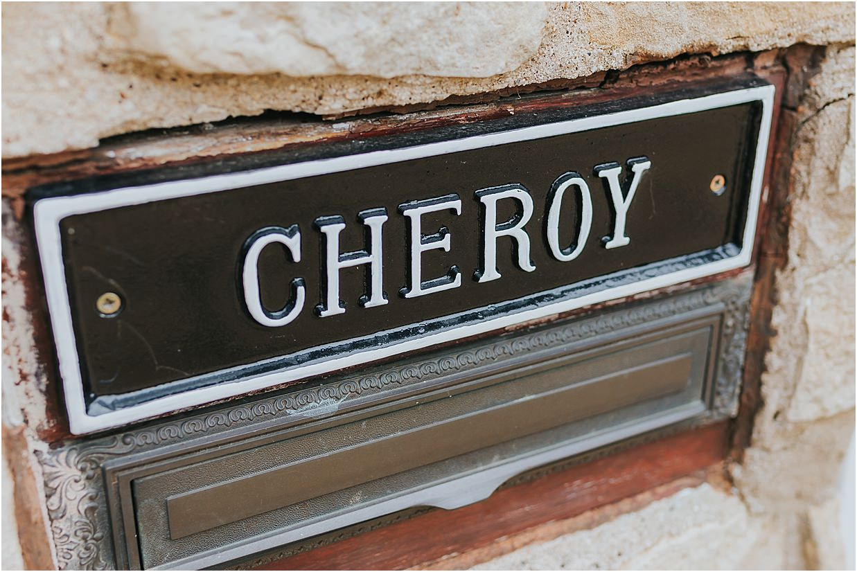 Rutland and Lincolnshire photography house sign which says Cheroy