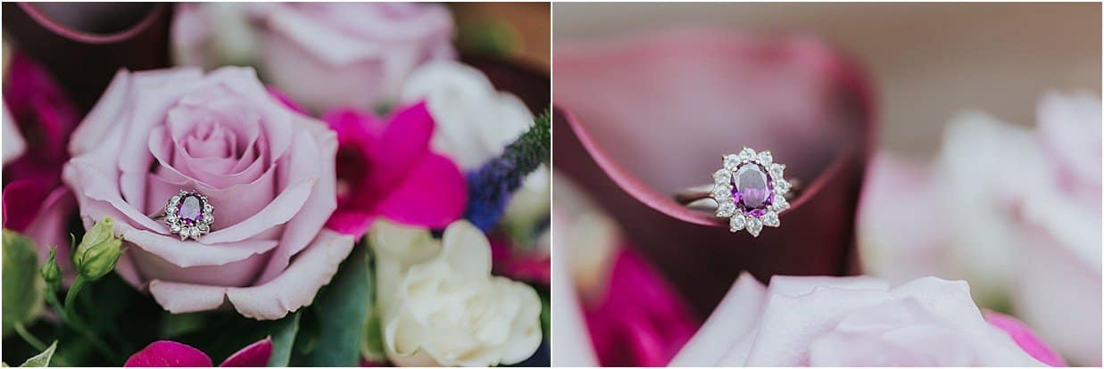 Rutland and Lincolnshire photography engagement ring in flowers