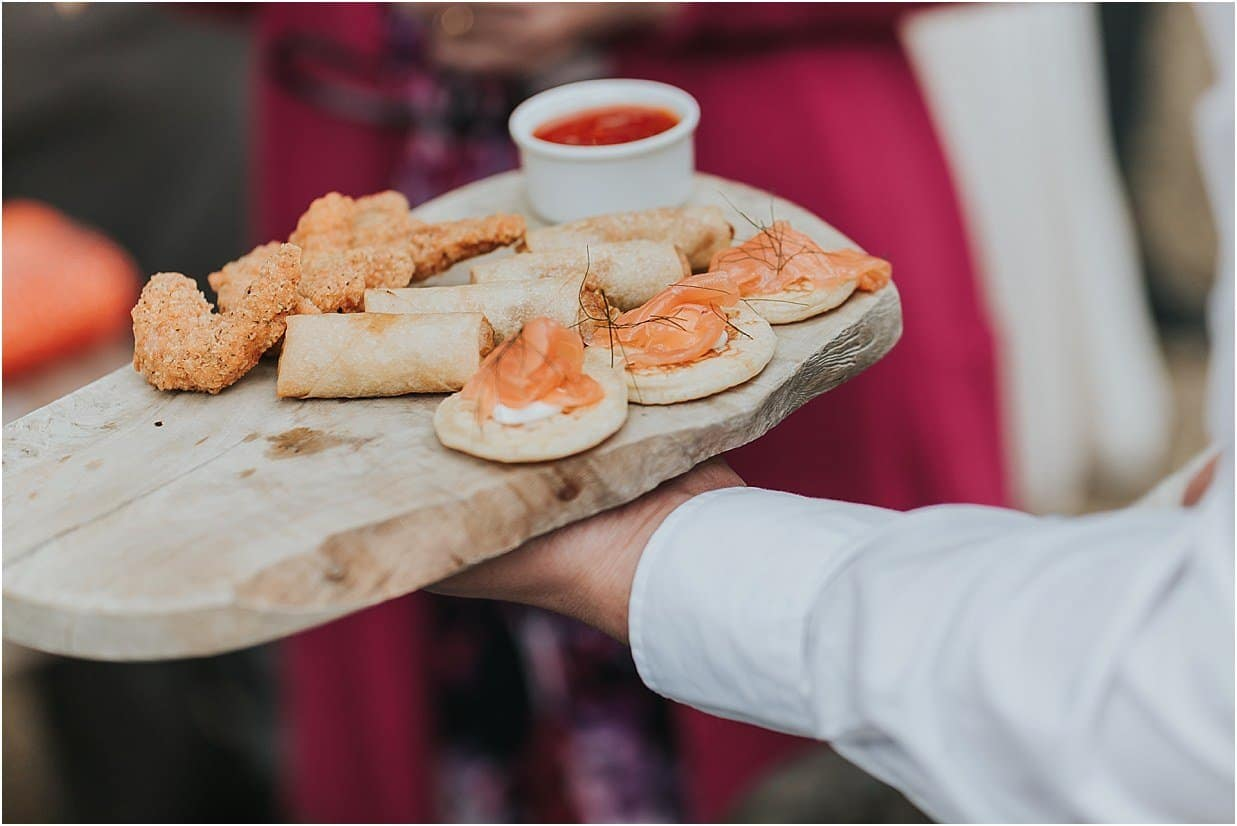 Rutland and Lincolnshire photography smoked salmon nibbles at Barnsdale Lodge hotel