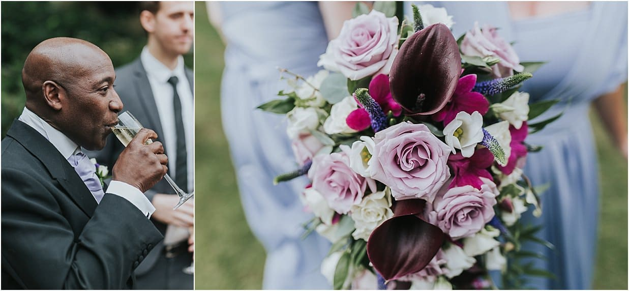 Rutland and Lincolnshire photography best man and bridesmaid bouquet
