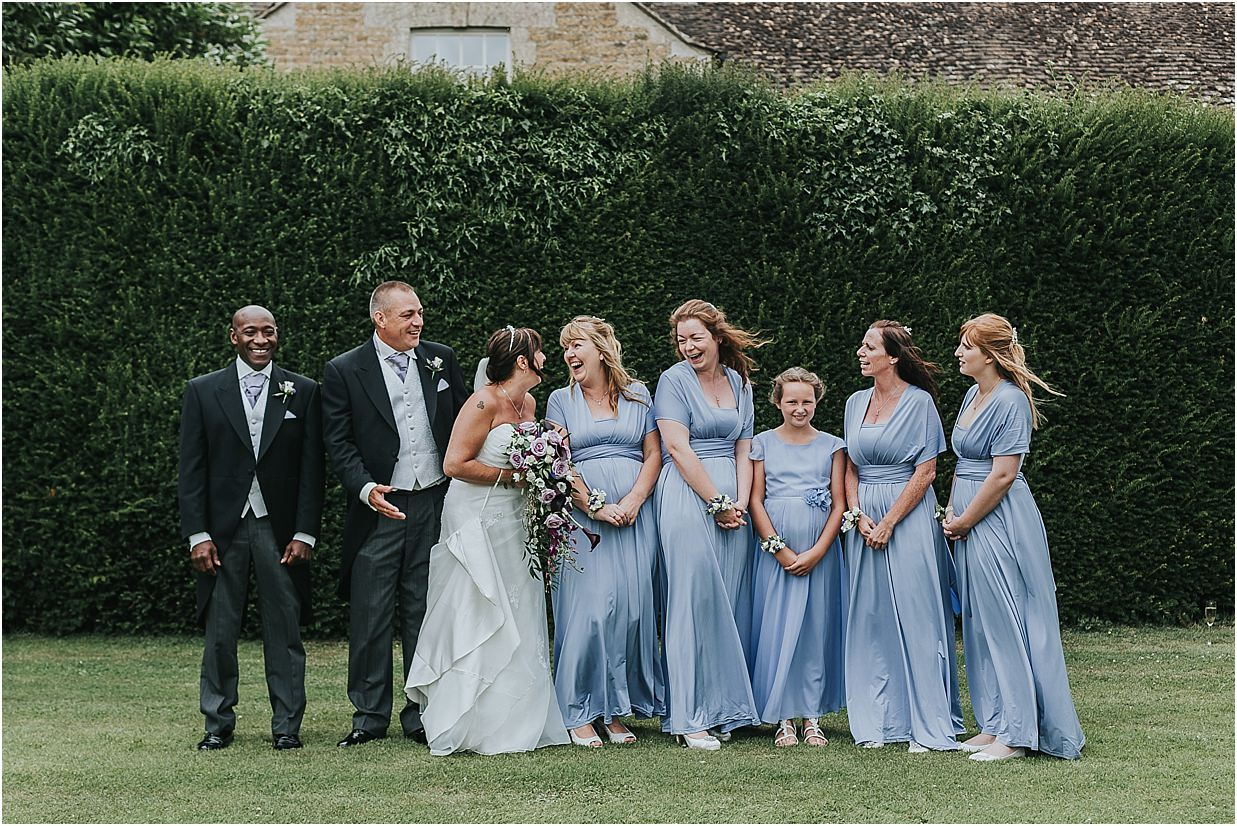 Rutland and Lincolnshire photography bride, groom, best man and bridal party at Barnsdale Lodge Hotel