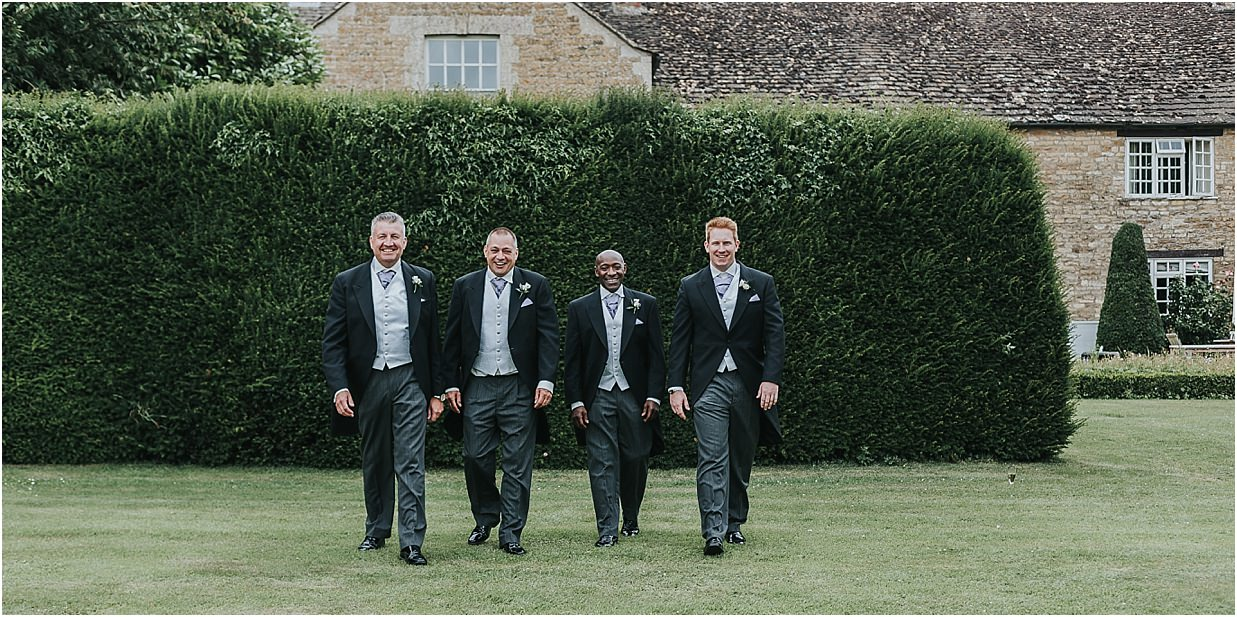 Rutland and Lincolnshire photography Groomsmen outside Barnsdale Lodge hotel