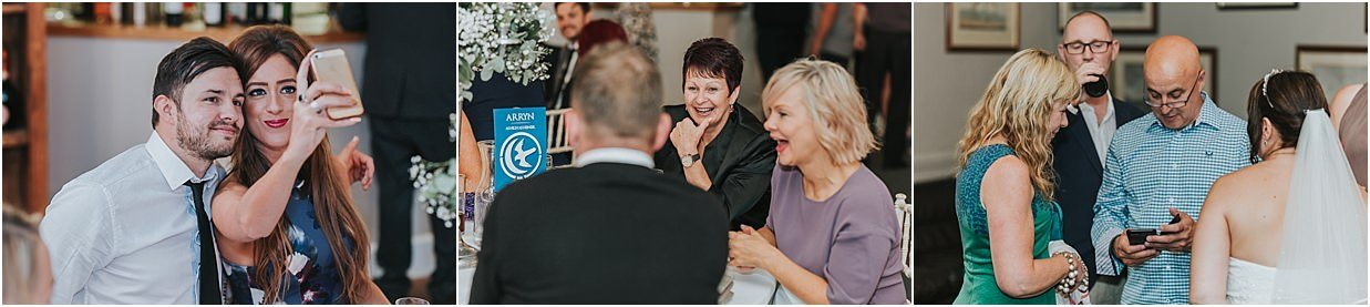 Rutland and Lincolnshire photography guests at Barnsdale Lodge wedding enjoying themselves