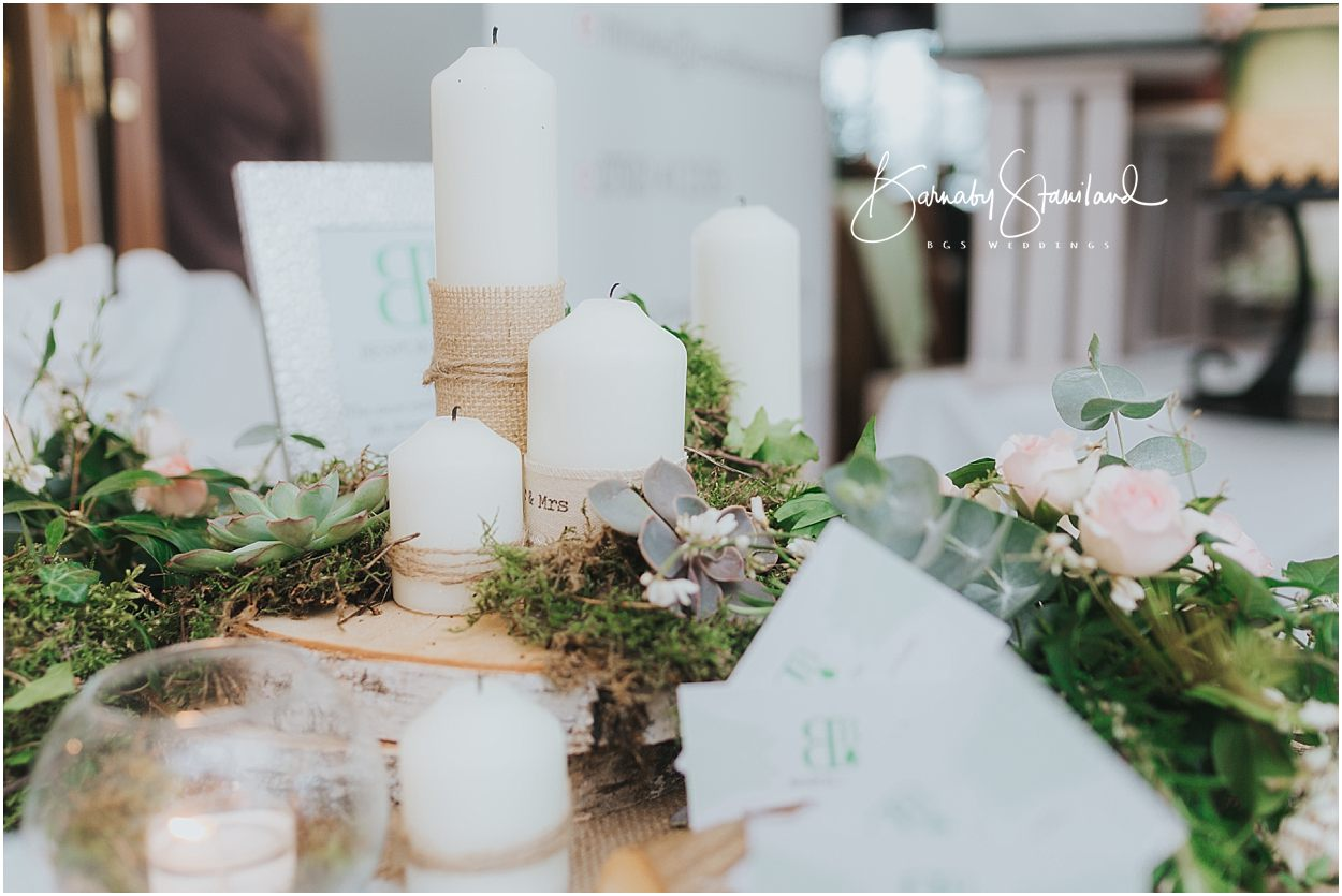 Rutland Wedding Photography wedding centre piece with candles