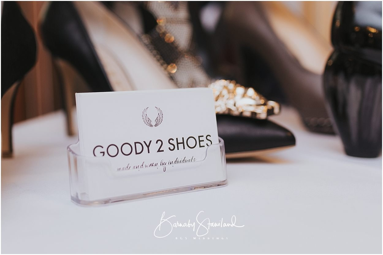 Rutland Wedding Photography Business card and shoes from Goody 2 Shoes