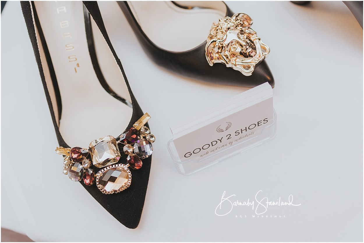 Rutland Wedding Photography business cards and shoes from Goody 2 Shoes