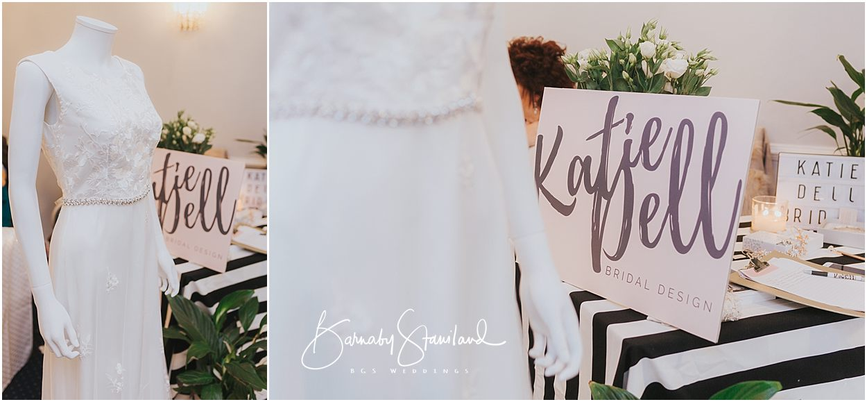 Rutland Wedding Photography advertising stand for Katie Dell bridal design