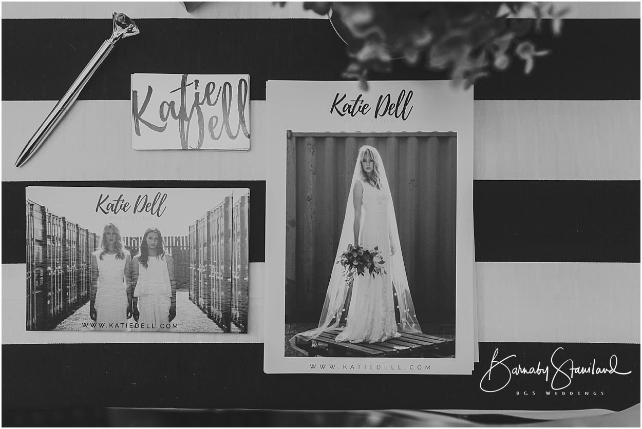 Rutland Wedding Photography business cards and flyers for Katie Dell Bridal design