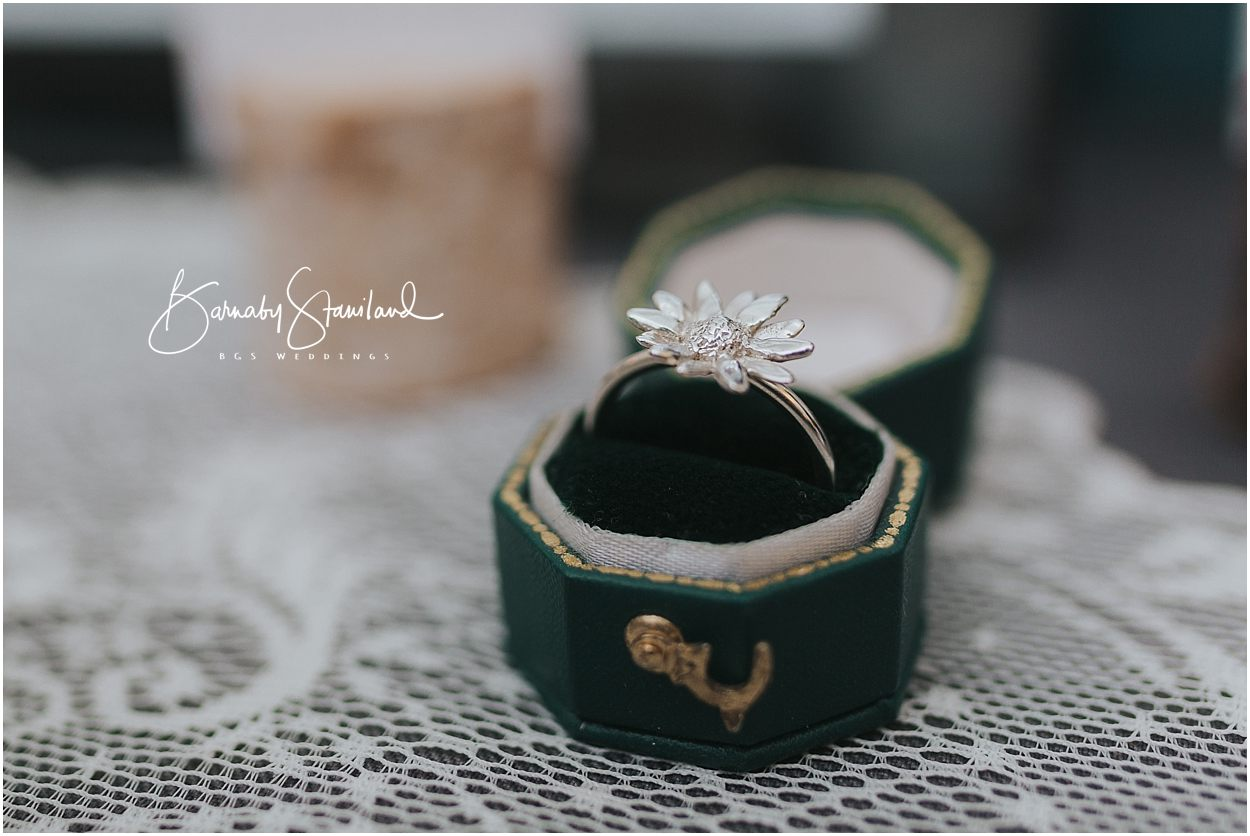 Rutland Wedding Photography handmade engagement ring daisy