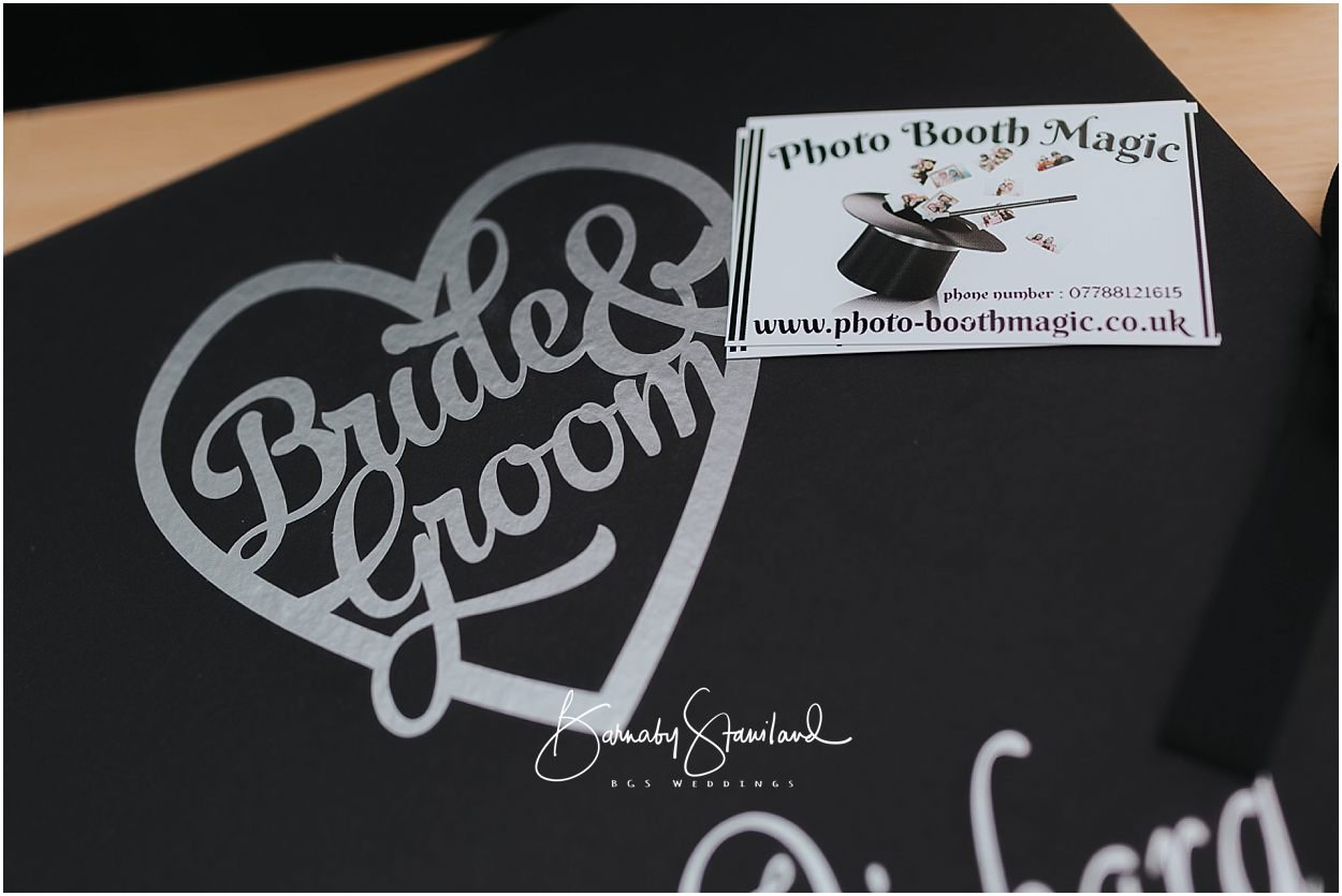 Rutland Wedding Photography business card from photo booth magic