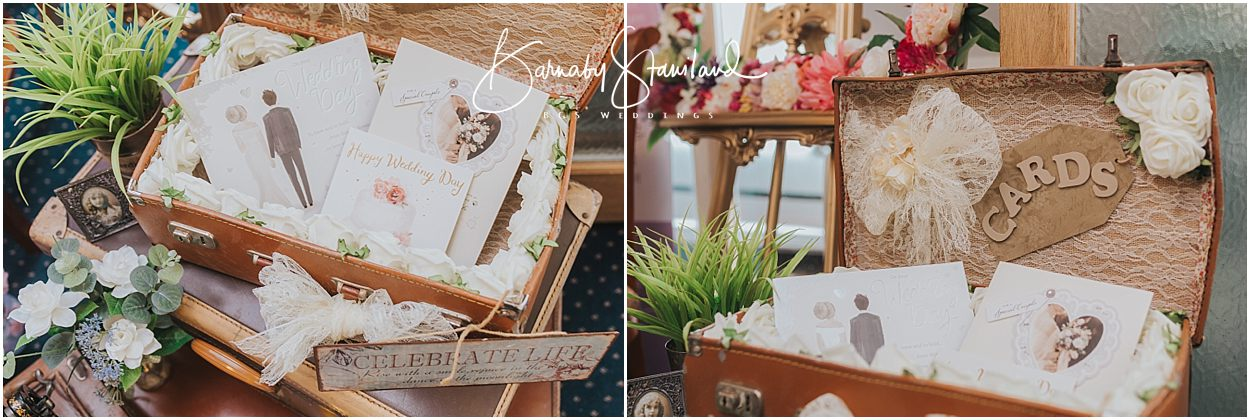 Rutland Wedding Photography vintage suitcase used for wedding cards