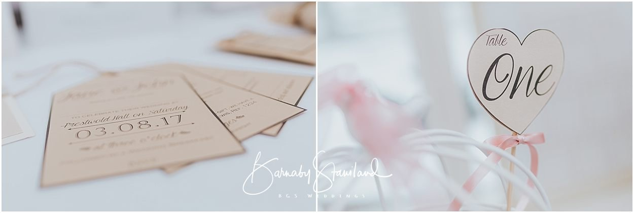 Rutland Wedding Photography examples of wedding invitations and tags