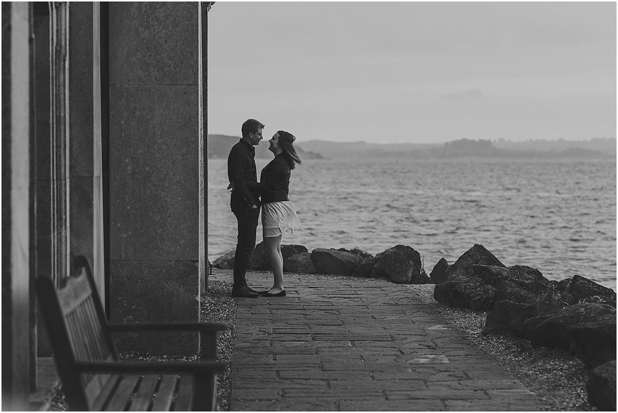 Rutland water engagement photography candid moment between a bride and groom