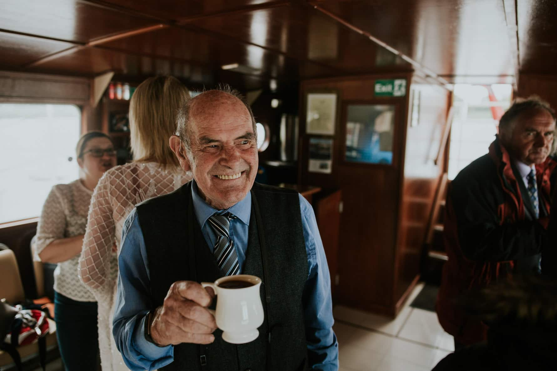 a wedding guest on the rutland belle
