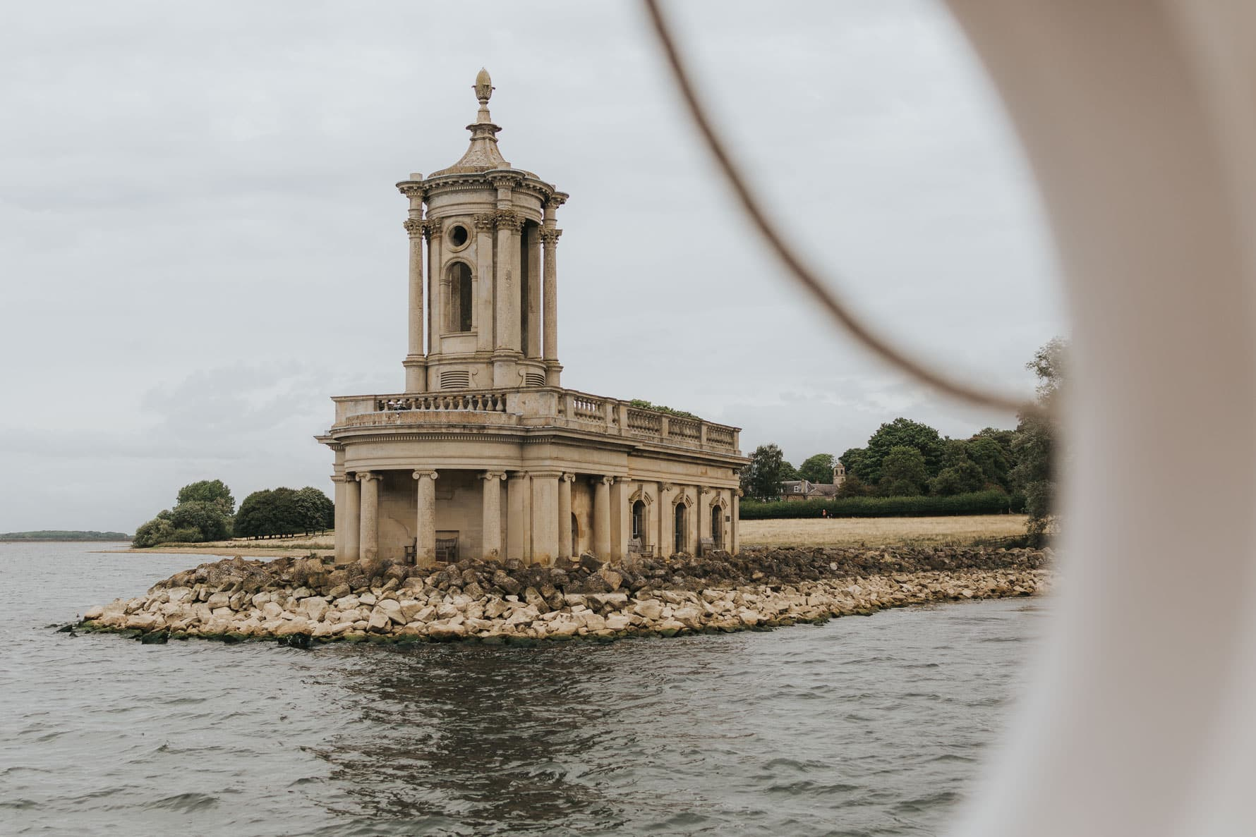 normanton church from the reservoir