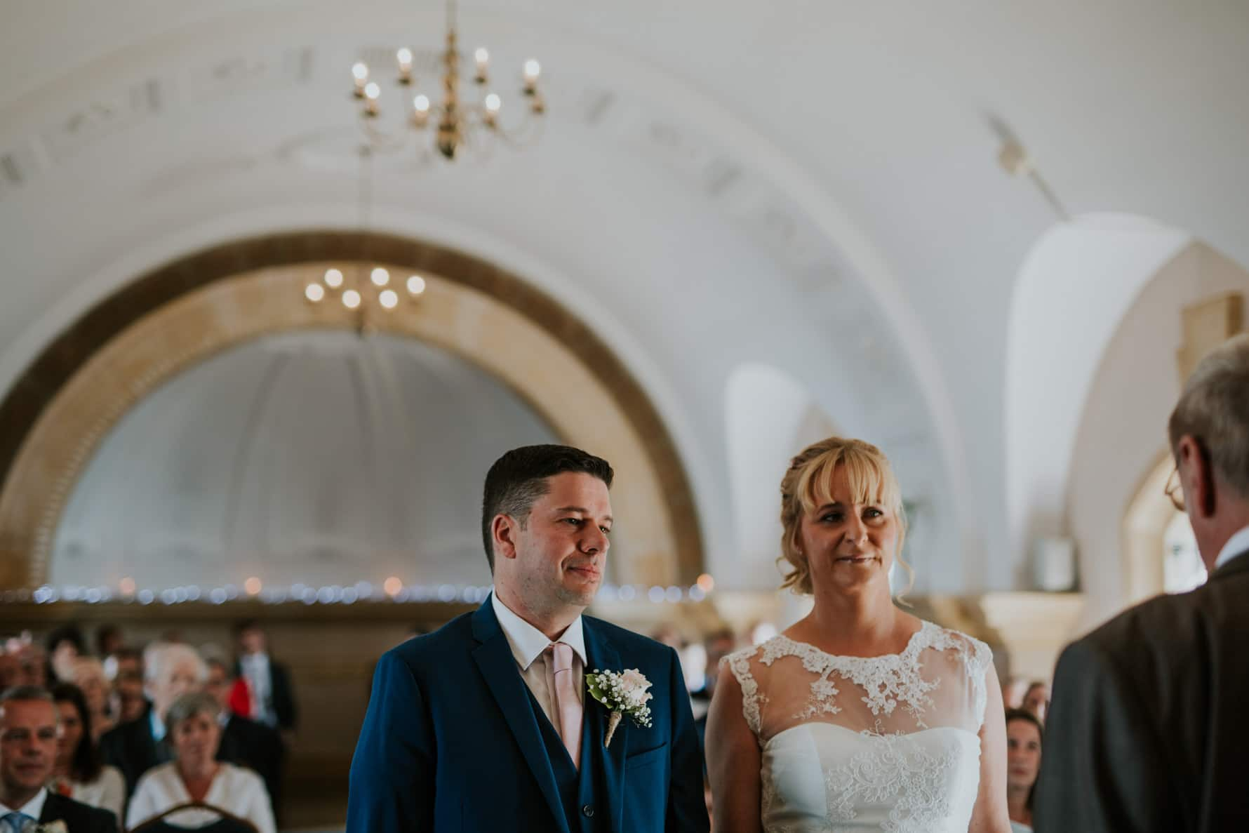 bride and groom stood in normanton church
