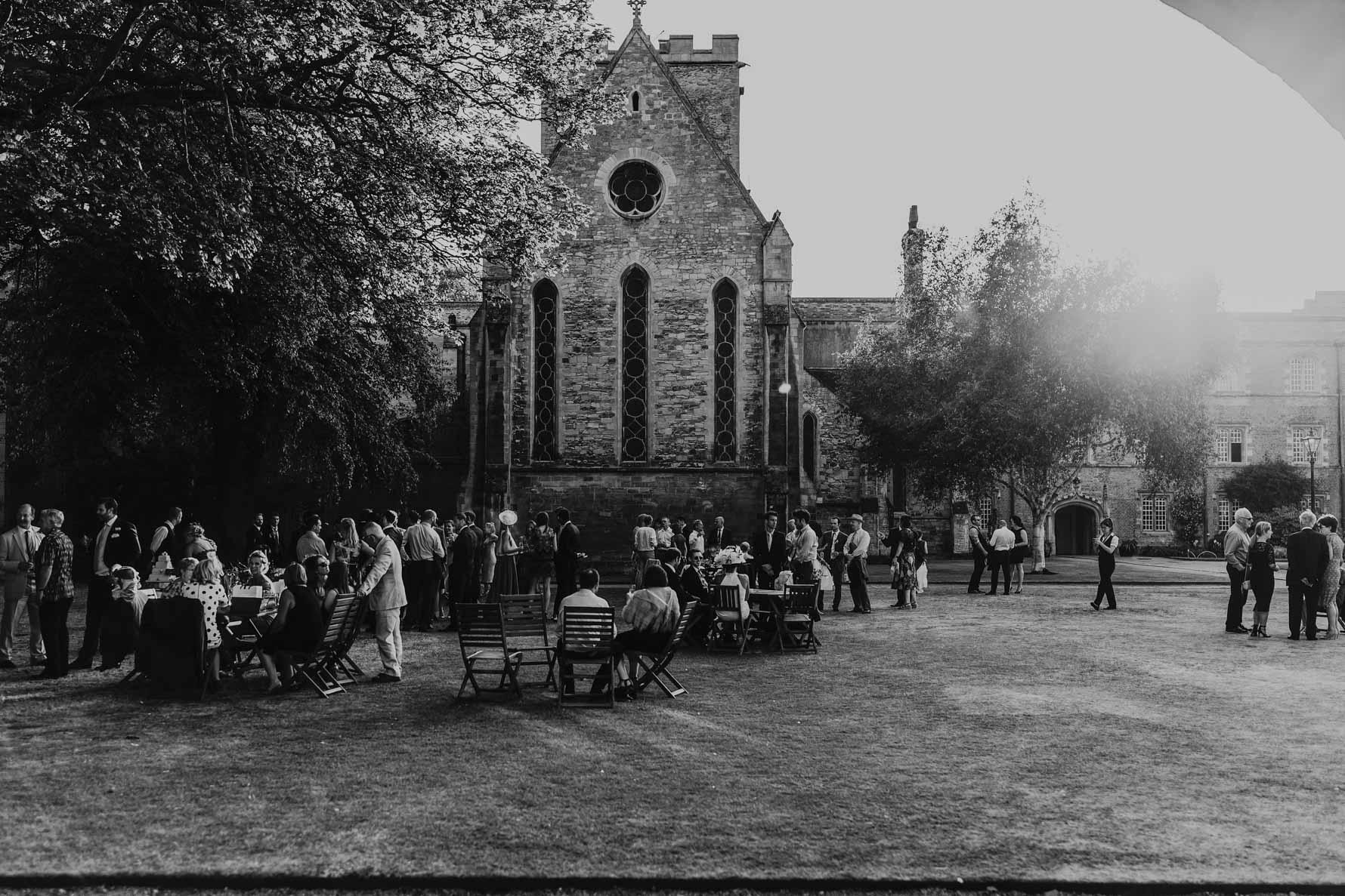 Wide shot of jesus college Cambridge