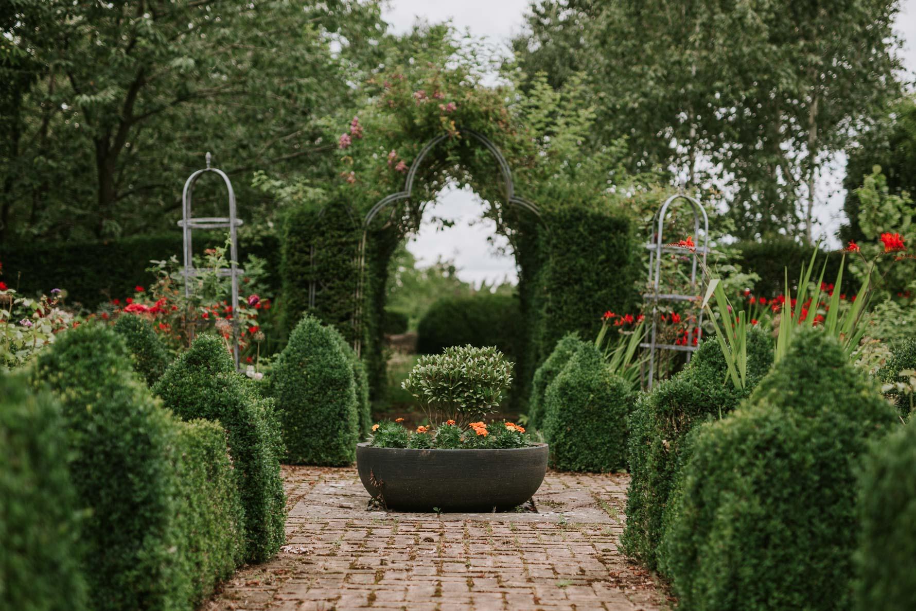 Ladywood estate wedding planter in beautiful garden