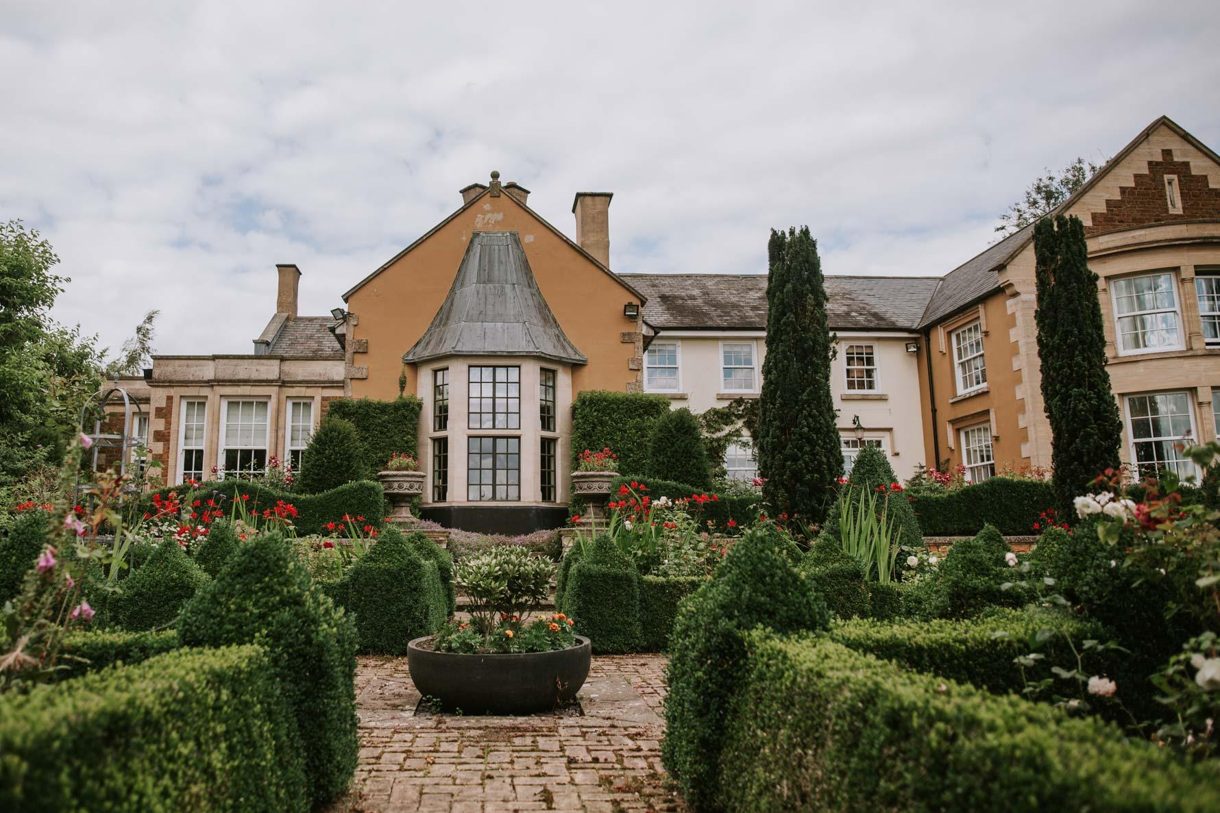 View of Ladywood estate wedding venue gardens