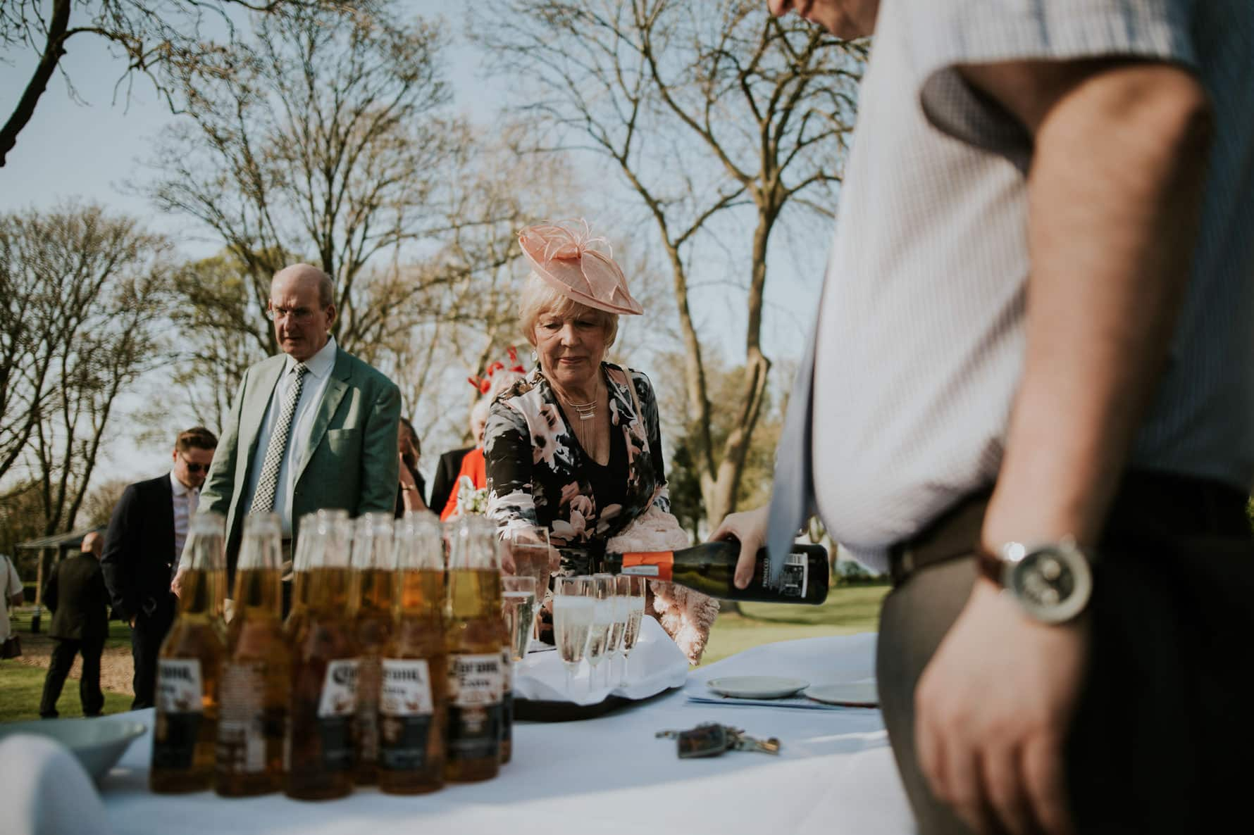 normanton park hotel wedding photographer image of welcome drinks