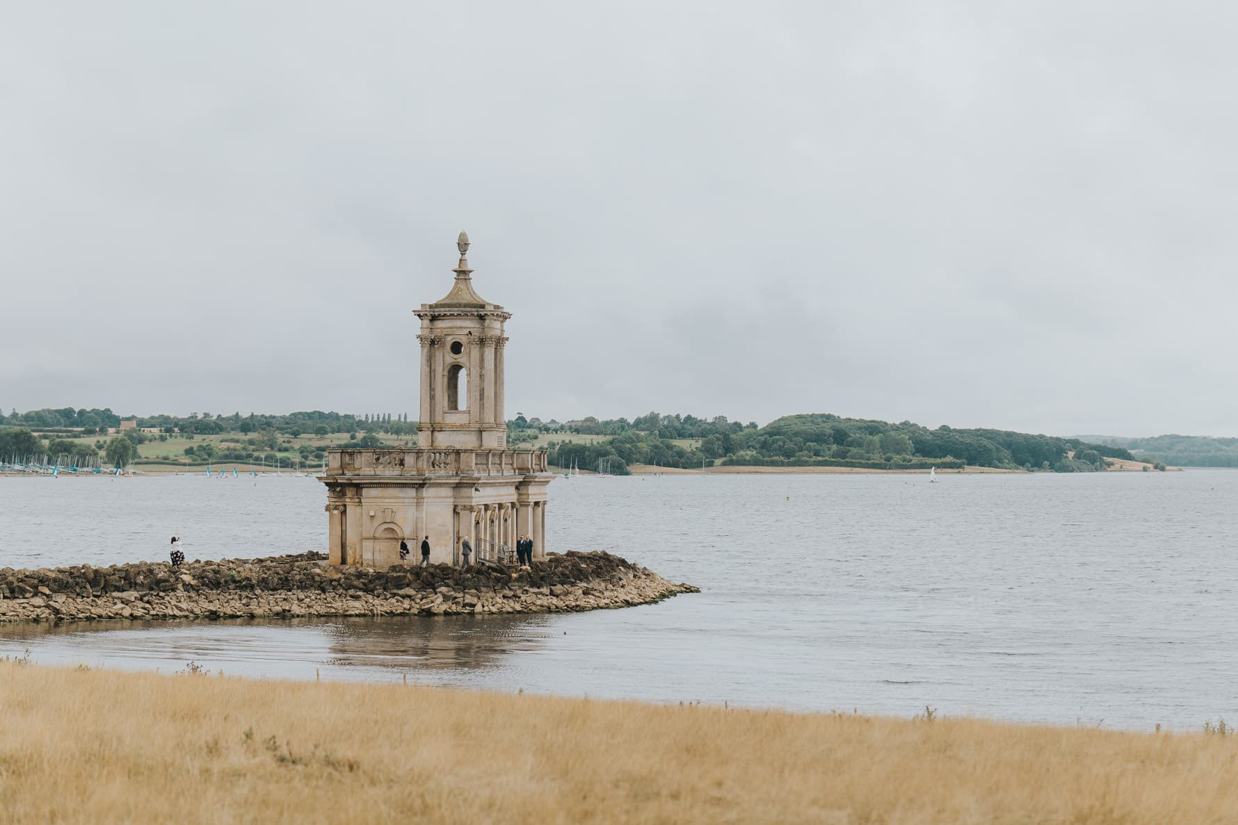 View of Normanton Church from Normanton Park Hotel - Wedding photographer